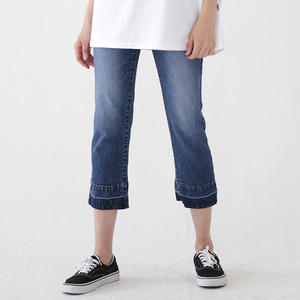 TWO TONE CUTTING DENIM JEANS ALP182002-BL