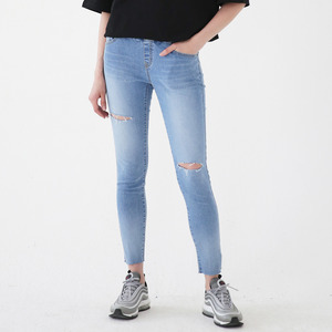 WASHING DAMAGED SKINNY JEANS ALP182003-BL