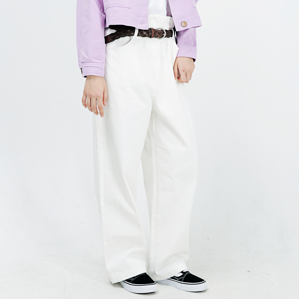 TWILL WIDE CHINO PANTS ALP183001-WT