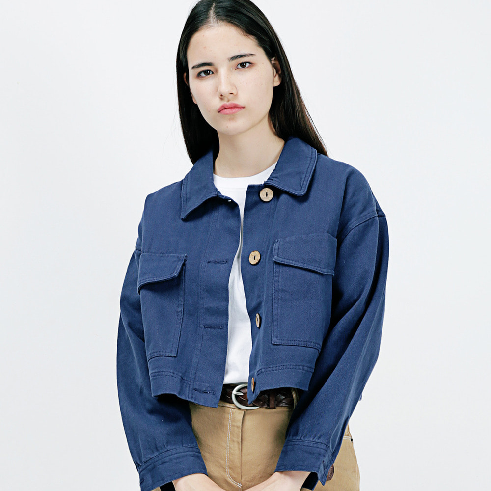 TWO POCKET SHORT JACKET AJK183001-NV