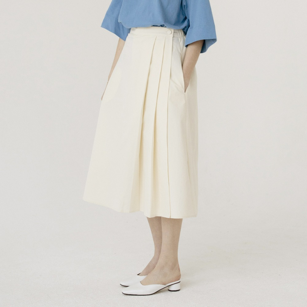 pleats wrap skirt ASK201001-IV