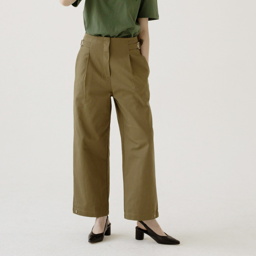 high waist wide cotton pants ALP201001-KK
