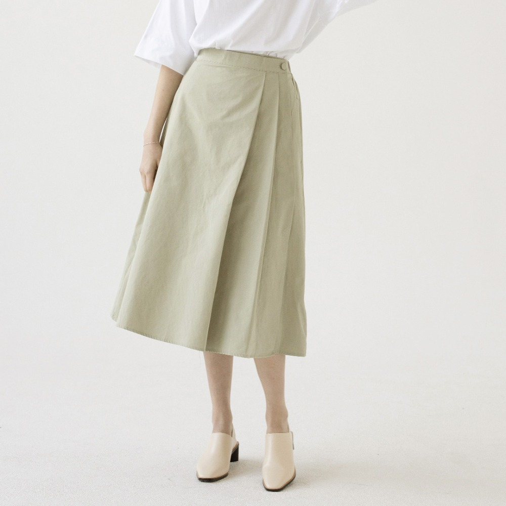 pleats wrap skirt ASK201001-MT