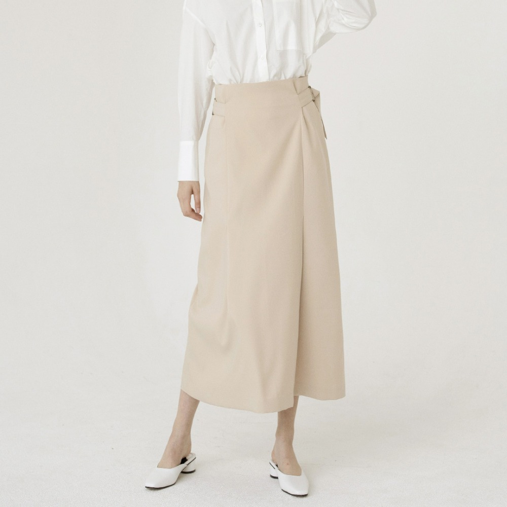 high waist strap skirt ASK201002-BG